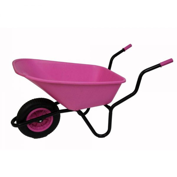 pink wheelbarrows