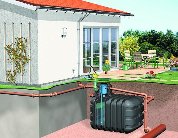 Rainwater harvesting garden